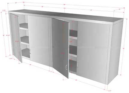 stainless steel kitchen storage cabinets
