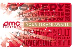 $25 AMC Theater Gift Card