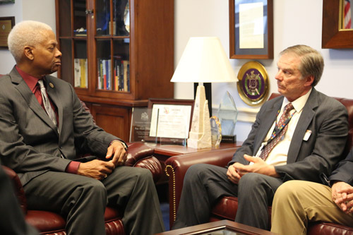 ACityDiscount CEO John Stack discussing the Marketplace Fairness Act with Representative Hank Johnson.