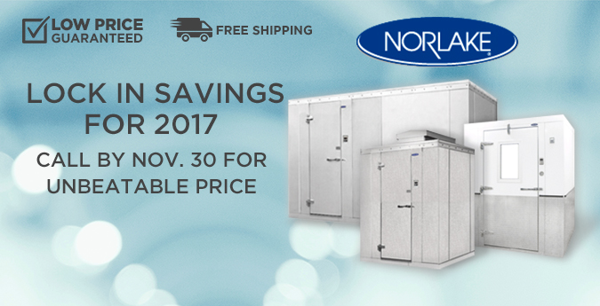 Lowest Price Guaranteed on All Norlake Walkin Coolers and Freezers, Plus Free Shipping!