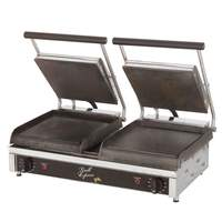 Star Smooth or Grooved 2-Sided Double Sandwich Panini Grill 240v - GX20I
