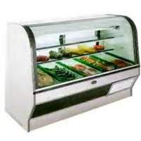 Marc Refrigeration HS-8 S/C 96 Self-Contained Curved Glass Red Meat Deli Display Case