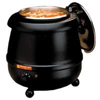Tomlinson Industries Glenray 10.5 Quart 400 Watt Soup Kettle Warmer Black - 1021805