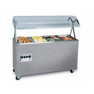 Vollrath Affordable Portable™ 60 (4) Well Cafeteria Station 208-240v - 399452