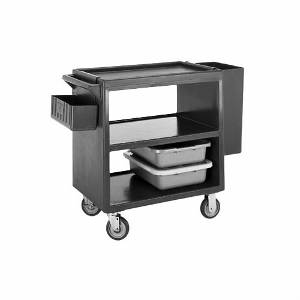 Cambro 3 Shelf Open Design Polyethylene Service Cart - Dark Brown - BC230131