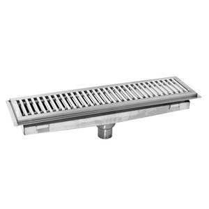 Eagle Group 48W x 12D Stainless Steel Floor Trough - FT-1248-SG