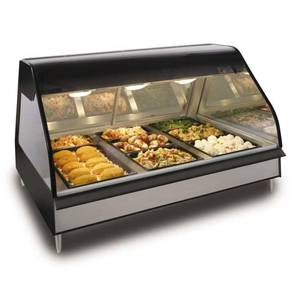 Alto-Shaam ED2-48/P-BLK Halo 48in Counter Top Heated Self Serve Food Display System
