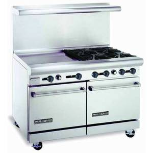 American Range AR36G-12RB 48 Gas Range W/ 2 Ovens, 36in Griddle & 12in Broiler