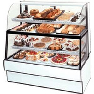 Federal CGR5960DZH 59 x 60 Dual Horizontal Zone Curved Glass Bakery Case