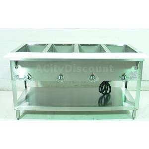 Used Duke Manufacturing E304-M Commercial Kitchen 4 Well Steam Buffet Service Table