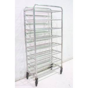 Used Mobile Aluminum 8 Shelf Bakers Rack