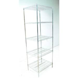 Used Advance Tabco 5 Tier Wired Shelving Storage Rack 30 x 24