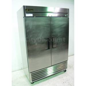 Used True Commercial 2 Solid Dr Reach In Cooler Storage Refrigerator - T-49