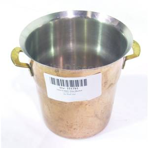 Used Copper Champagne Wine Cooler Bucket W Stainless Interior