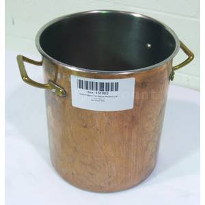 Used Copper Stock Pot W Stainless Interior 9½ x 11