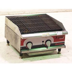 Used APW Wyott Champion 24 Countertop Char Rock Charbroiler - GCRB-24IS