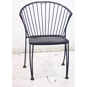 Used Outdoor Dining Patio Seating Black Metal Chair