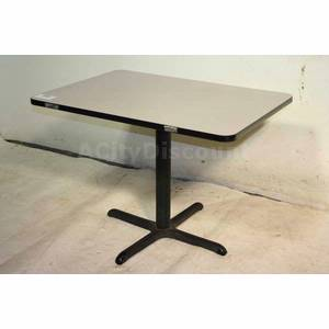 used restaurant kitchen 4 person laminate table cast iron base rh acitydiscount com used restaurant tables for sale used restaurant tables chairs