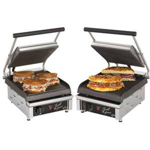 Star GX10I 10in Smooth or Grooved 2-Sided Sandwich Panini Grill 120v