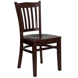 Flash Furniture XU-DGW0008VRT-***-GG Vertical Slat Back Wood Chair w/ Four Finish Color Options