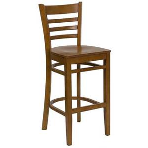 Flash Furniture XU-DGW0005BARLAD-***-GG Ladder Back Wood Bar Stool w/ Four Finish Color Options