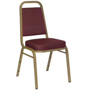 Flash Furniture FD-BHF-1-ALLGOLD-****-GG Banquet Stack Chair w/ Gold Frame & Vinyl or Fabric Seat