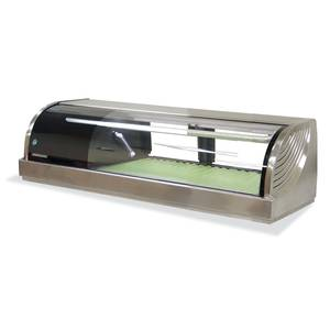 Hoshizaki HNC-120BA-*-S Refrigerated Sushi Display Case 47 Counter Top Stainless