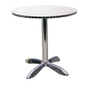 H&D Commercial Seating 23.5in Round Aluminum Restaurant Table - 760R