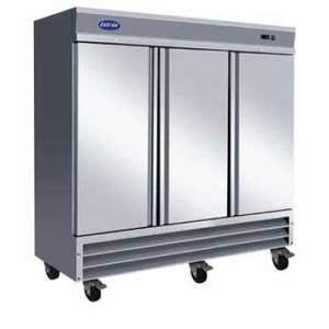 Entree 72 Cu.Ft. Commercial 3 Door Stainless Freezer W/ 9 Shelves - CF3