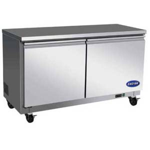 Entree UF61 15.5 Cu.Ft Commercial 61 Undercounter Stainless Freezer