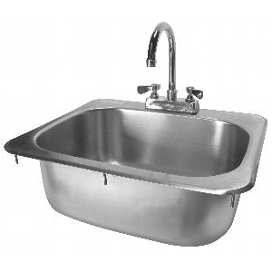 Drop In Hand Sink w/ Deck Mount NO LEAD Faucet NSF - HS-1317IHG