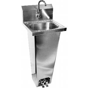 Hand Sink 16x15 w NO LEAD Faucet & Foot Pedal Operated Valve - HS-1615FG