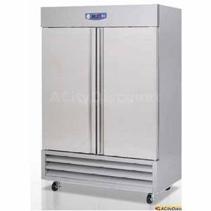 Migali G3-2R Commercial 49 Cu.Ft Stainless Refrigerator Reach-In Cooler