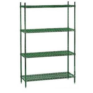Titan Wire Shelving 2472-63GESET 24 x 72 x 63 Green Epoxy Wire Shelving Unit