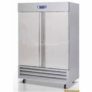 Migali G3-2F Commercial 49 Cu.Ft Stainless 2 Door Reach-In Freezer