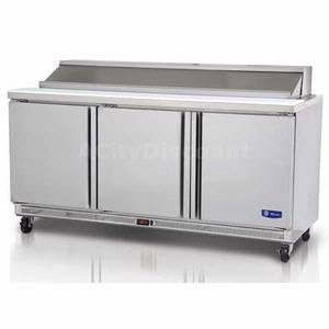 Migali Commercial 72 Stainless Sandwich Prep Unit Cooler 18 Pans - G3-SP72-18