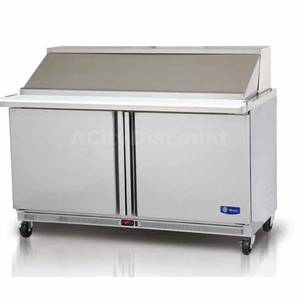 Migali G3-SP60-24BT Commercial 60 Big Top Sandwich Prep Unit Cooler 24 Pans