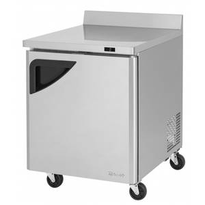 Turbo Air TWF-28SD 28in Work Top Freezer 7cf Stainless Steel with 1 Swing Door