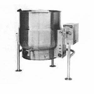 Market Forge FT-40LE Stainless Electric 40 Gallon Steam Jacketed Tilting Kettle