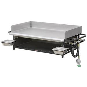 Big John Grills 36 Portable Outdoor LP Gas Flat Griddle Countertop - PG-36