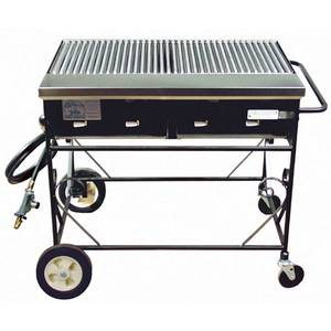 Big John Grills A2CC-LPSS 40 LP Gas Country Club Grill w/ Stainless Grates & Hose