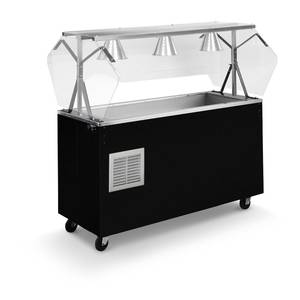 Vollrath R3871660 60 Mobile Refrigerated Food Station Black with Lights