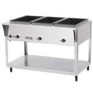 Vollrath 3 Well Electric Stainless Hot Steam Food Table 208/240 volts - 38217