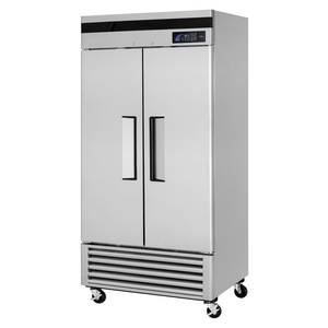 Turbo Air 35 CuFt Commercial Reach-In Refrigerator with 2 Solid Doors - TSR-35SD