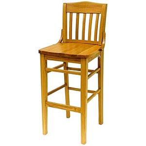 All About Furniture Restaurant Wood Schoolhouse Bar Stool w/ Finish Options - WC811-BS WS