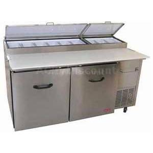 Tor-Rey Refrigeration PTP-170-11 Refrigerated 67 Pizza Prep Table 2 Doors