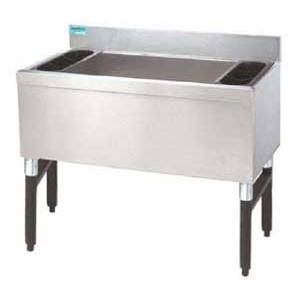 Supreme Metal 18 x 24 Ice Bin w Coldplate Cocktail Unit NSF - SLI12-24-7