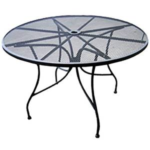 All About Furniture 36 Round Outdoor Restaurant Patio Table Mesh Steel Top - OMT36