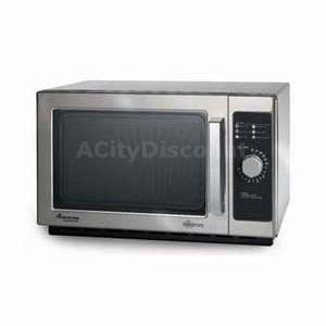 Amana 1000w Commercial Stainless Steel Microwave Oven 1.2 Cu.ft - RCS10DS
