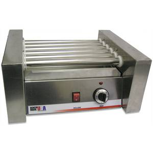 Benchmark 62010 Stainless Hot Dog Roller Grill Fits 10 Hot Dogs 120v
